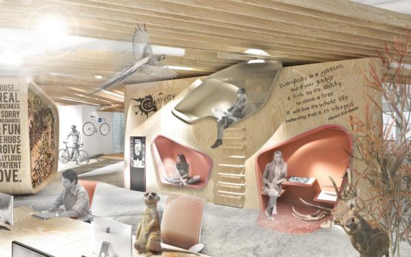 Interiér kanceláří Holešovice